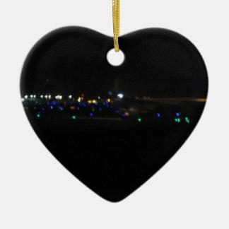Noche del la del en de La Paz Adorno De Cerámica En Forma De Corazón