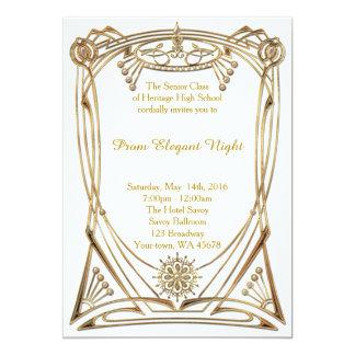 Noche elegante del baile de fin de curso invitación 12,7 x 17,8 cm
