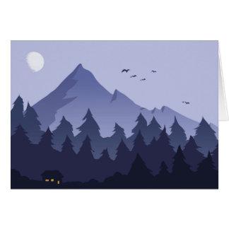 Noche en una tarjeta de felicitación de la cabina