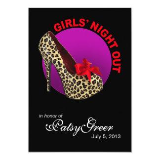 Noche enrrollada de los chicas del estilete del invitación 12,7 x 17,8 cm