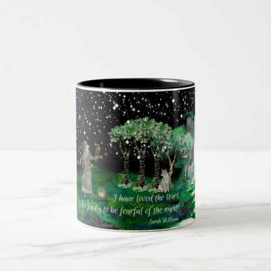 Noche estrellada 2 taza de café de dos colores