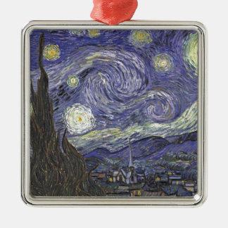 Noche estrellada adorno de cerámica