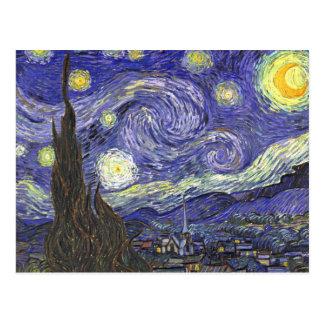 Noche estrellada de Van Gogh, arte del paisaje del Tarjeta Postal