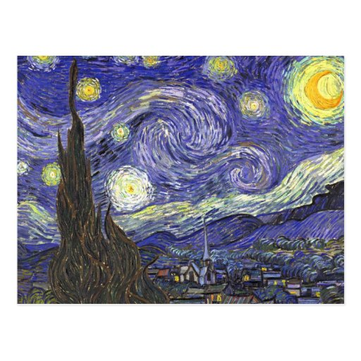 Noche estrellada de Van Gogh, impresionismo del Tarjeta Postal