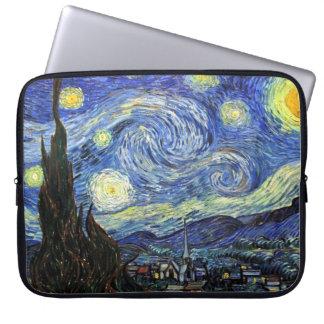 Noche estrellada de Vincent van Gogh 1889 Funda Para Portátil