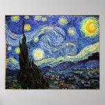 Noche estrellada de Vincent van Gogh 1889 Póster
