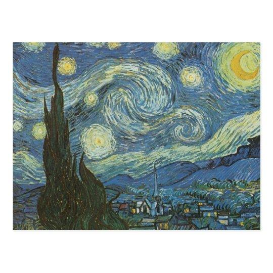 Noche estrellada de Vincent van Gogh Postal