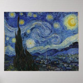 Noche estrellada de Vincent van Gogh Poster