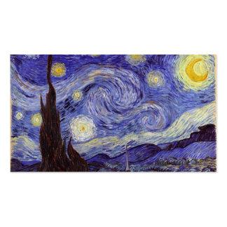 Noche estrellada de Vincent van Gogh Tarjetas De Visita