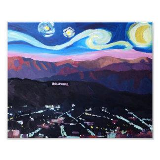 Noche estrellada en Hollywood - Los Ángeles Arte Con Fotos