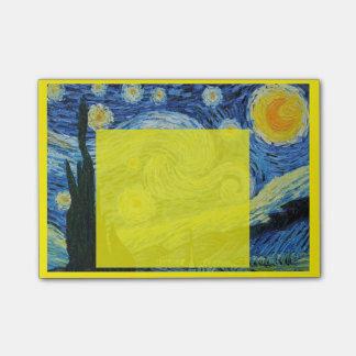 Noche estrellada en post-it amarillo notas post-it®
