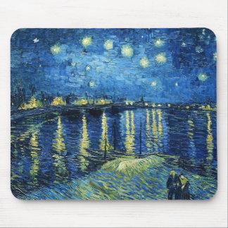 Noche estrellada sobre el Rhone Vincent van Gogh Alfombrilla De Ratón