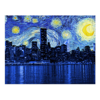 Noche estrellada sobre New York City Postal