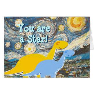 Noche estrellada usted es una tarjeta de los