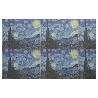 Noche estrellada Vincent van Gogh tejado Tela