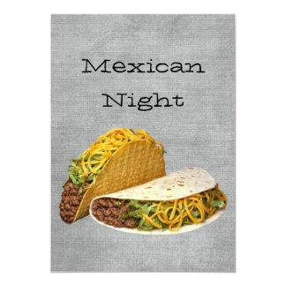 Noche mexicana invitación personalizada