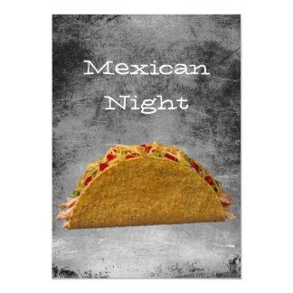 Noche mexicana invitacion personal