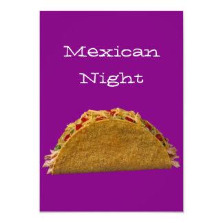 Noche mexicana anuncio