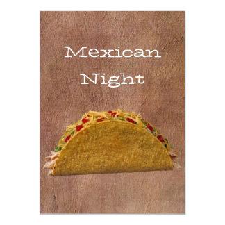 Noche mexicana invitacion personalizada