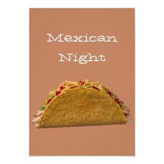 Noche mexicana invitaciones personalizada