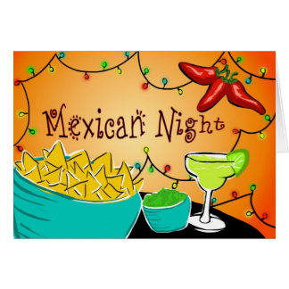 Noche mexicana tarjeta