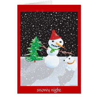 noche nevosa tarjeta de felicitación