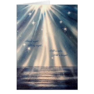 """""""Noche silenciosa, tarjeta de Navidad de la noche"""