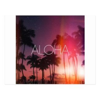 Noche tropical de la hawaiana postal