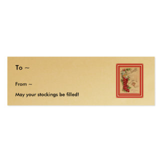 Nochebuena con la media, etiqueta del regalo tarjetas de visita mini