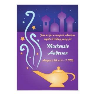 Noches árabes 2 invitaciones mágicas de la lámpara invitación 12,7 x 17,8 cm