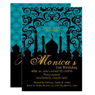 Noches árabes, invitación del cumpleaños del
