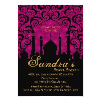 Noches árabes, invitaciones del dulce dieciséis invitación 12,7 x 17,8 cm
