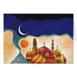 noches árabes tarjeta de felicitación