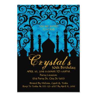 Noches árabes, trigésimas invitaciones del invitación 12,7 x 17,8 cm