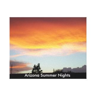 Noches de verano de Arizona en lona Impresión En Lienzo