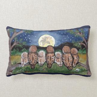 Noctámbulos familia y almohada del diseñador del