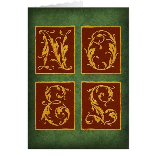 NOEL de la tarjeta de Navidad en verde