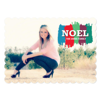 noel invitación 12,7 x 17,8 cm