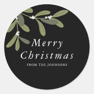 Noel - pegatina redondo del navidad