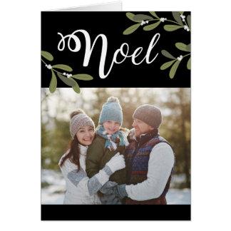Noel - tarjeta de felicitación de la foto del