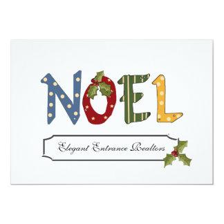 Noel y acebo - tarjetas personalizadas del día de invitación personalizada
