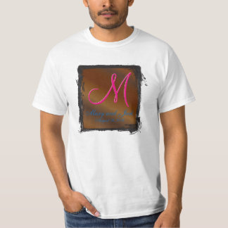 nogal negro del monograma 3d camiseta
