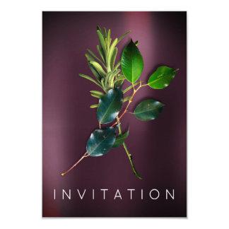 Noir orgánico del cocinero de las especias del invitación 8,9 x 12,7 cm
