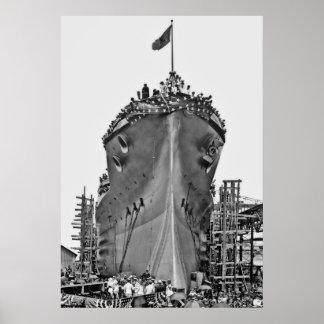 Nombramiento de la ceremonia para BB-39:  USS Ariz Póster