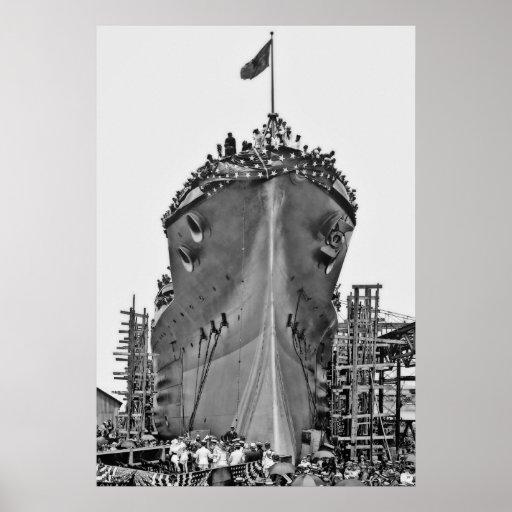 Nombramiento de la ceremonia para BB-39:  USS Ariz Poster