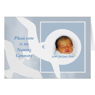 Nombramiento de la invitación de la ceremonia, tarjeta de felicitación