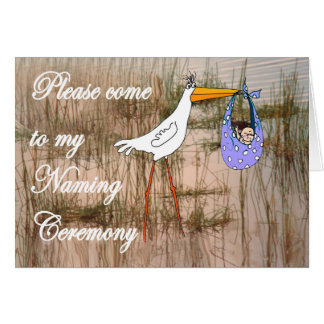 Nombramiento de la invitación, de la cigüeña y del tarjeta de felicitación
