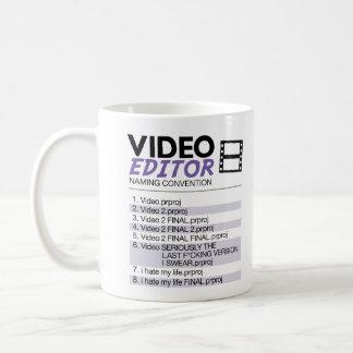 Nombramiento del fichero de los redactores taza de café