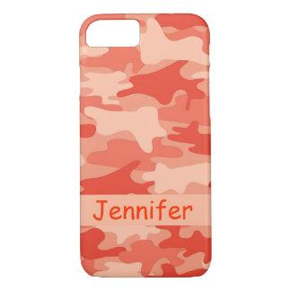 Nombre anaranjado del camuflaje de Camo Funda iPhone 7