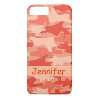 Nombre anaranjado del camuflaje de Camo Funda iPhone 7 Plus